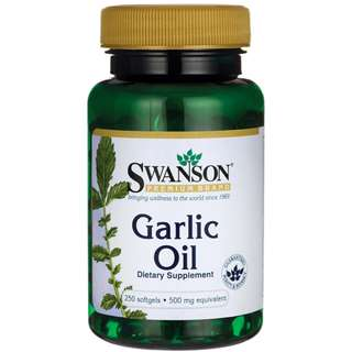 (USGMP) SW393 Swanson Garlic Oil 500mg 250粒 大蒜精華 免疫健康