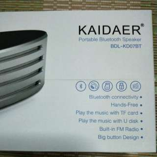 Kaidaer Portable Bluetooth Speaker with FM Radio
