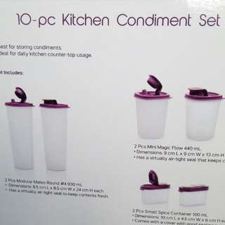 10-pc Kitchen Condiment Set