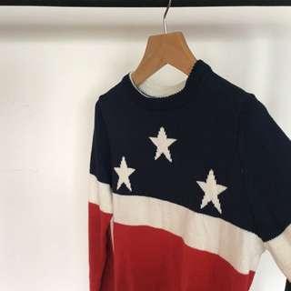 美國國旗 毛衣 星 flag