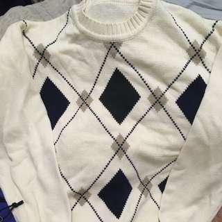 🚚 英倫格紋針織上衣