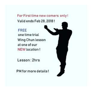Wing Chun - Free one time trial lesson for newcomers !