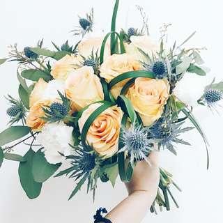 Designer rustic chic bridal bouquet