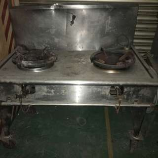Stainless steel kitchen (2-hobs)