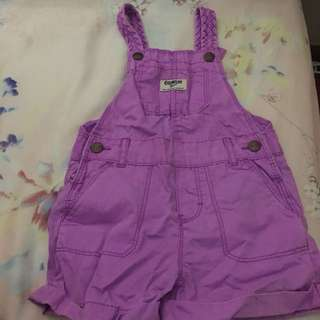Almost New Osh Kosh purple shortall / jumper