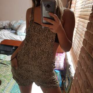 Study leopard playsuit