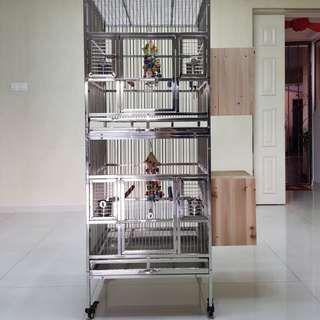 Stainless steel breeding cage