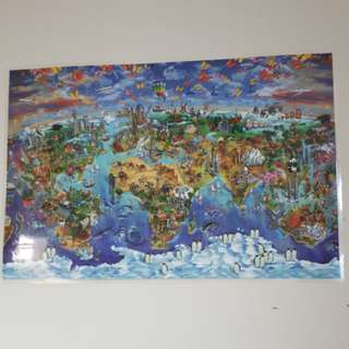 Vibrant huge World Map(laminated)