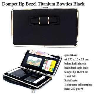 Dompet Murah Hp Bezel Titanium Bowties BLACK