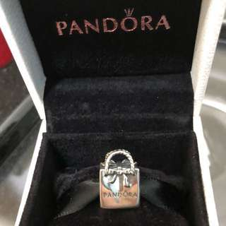 Pandora logo bag charm