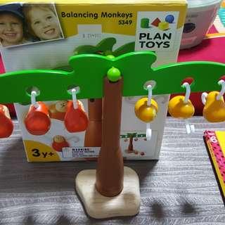 Wooden Toys balancing monkeys