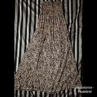 H&M Maxi Leopard Tube Dress