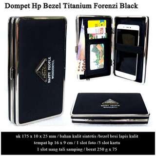 Dompet Murah Hp Bezel Titanium Forenzi BLACK