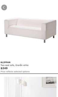MUST GO IMMEDIATELY : Klippan sofa (ikea)