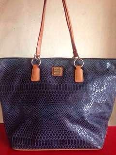 Original Dooney and Bourke Large Embossed Snakeskin O-Ring Shopper Bag not Coach Spade Kors
