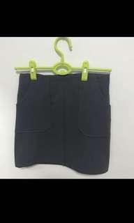 Dark Grey Pocket Skirt