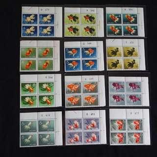 S38-珍稀方連全右上邊角四方連10張帶版號,好友送贈已收藏多年,因有私人問題不能繼續珍藏而出售,請出價pm