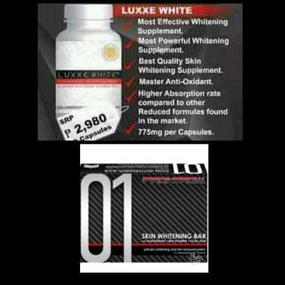 Luxxe white with free 01 Celebrity Soap