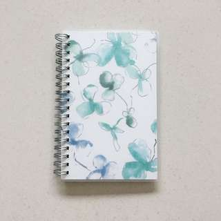 PENDING Instock! - BN A6 Weekly / Monthly Blue Green Purple Ombré Floral Planner Diary
