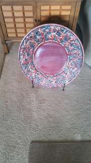 Beautiful 20 inch plate. With stand