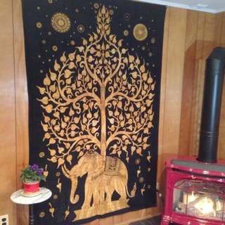 Elephant Tapestry Wall Hanging Decor