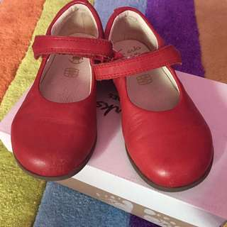 Clark Red Leather Shoes