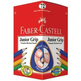 Junior grip colour pencil Faber-Castell set 72