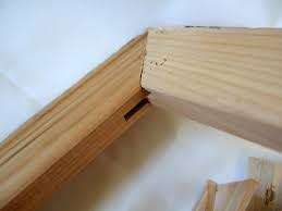 Canvas stretcher bars for art or signage