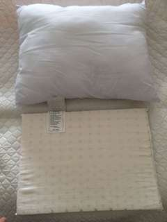 Baby kids pillow (1polyster & 1natural latex) come with pillow case as per photo