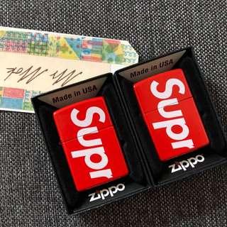 全新 現貨 Supreme zippo lighter 打火機 red SS18