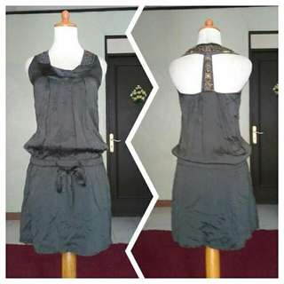 DRESS WSREHOUSE _ 100% SILK ABU2 TUA KOMBINASI PAYET2 SUZE S