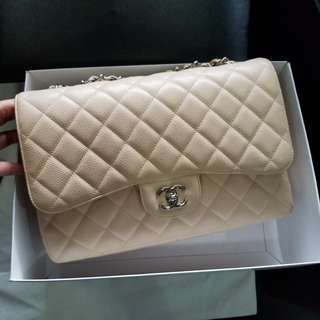 Authentic Chanel Classic Jumbo SINGLE Flap
