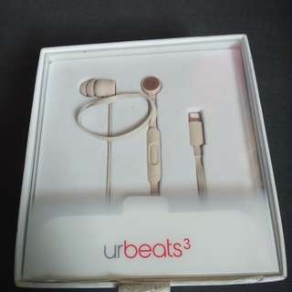 beats uRbeats 3 wired earphone