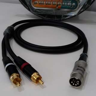 2 RCA to 5 Pin Din Input Hi-Fi Interconnect
