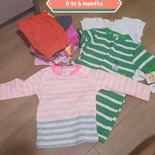 Assorted brand baby girl clothes (baby gap, mothercare and 95% Carters.)ranging from 0 to 18 months
