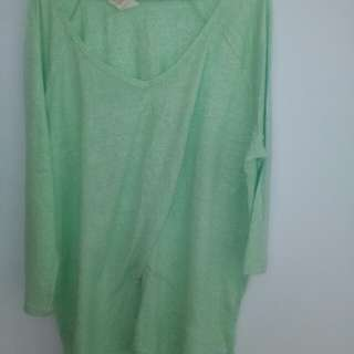 Green shirt blouse