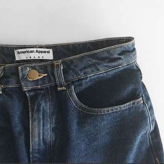 American apparel denim skirt