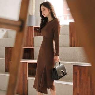 BN brown one piece dress