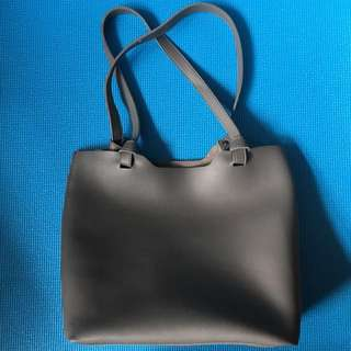 仿皮手袋 手挽 上膊 灰色 handbag in grey