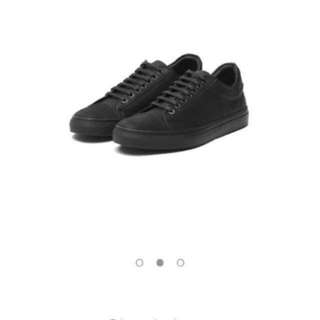 Wing & Horns classic low all black shoes Unisex 真皮休閑經典