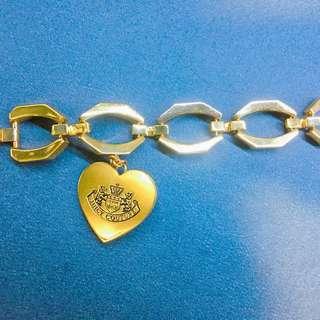 (正品)Juicy couture charm bracelet 皇冠logo金色手鍊