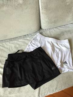 Adidas sports shorts skirt skort 運動網球羽毛球裙