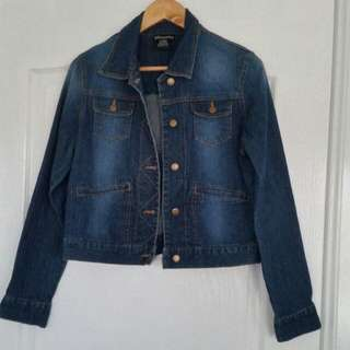 Silhouette Blue Denim Jean Jacket Medium Perfect Condition