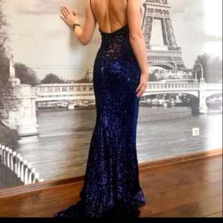 blue long gown for rent