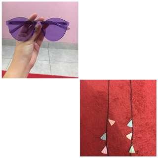 ( reprice ) kacamata ungu+strapnya!!