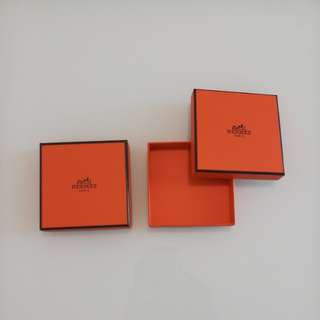 Hermes boxes with ribbons