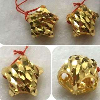 916 star Charm gold