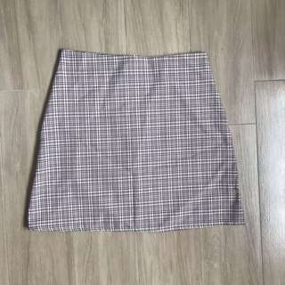 [sold] bnwt gingham / checkered basic skirt