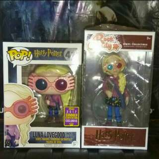 Luna Lovegood with Glasses Harry Potter Rock Candy and Funko Pop Bundle