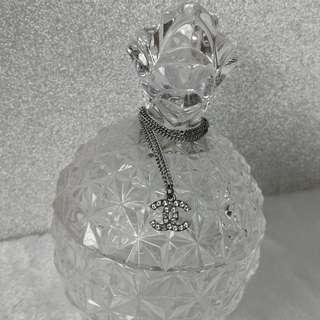 Authentic Chanel Classic CC Rhinestone Necklace